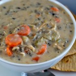 Creamy Chicken and Wild Rice Soup (E) p. 100