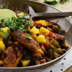 Blackened Chicken with Mango and Black Beans (E) p. 66