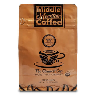 Middle Mountain Coffee Ground Roasted 12oz Pouch SKU Number 644216212088