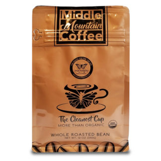 Middle Mountain Coffee Whole Bean Roasted 12oz Pouch SKU Number 644216212187