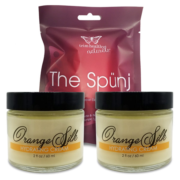 Image of 2 Orange Silk Hydrating Cream 2oz and 1 Spunj Bundle