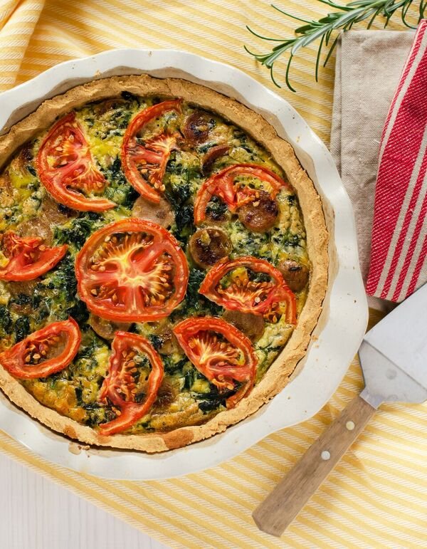 Spinach And Sausage Quiche S Thm